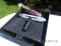 FREE LARGE PAINT TRAY WITH PAINT ROLLER AND SPARE ROLLER