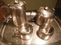 5 piece tea set in stainless steel