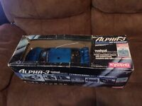 Kyosho Alpha-3 Nitro RC Car. GP Version, Great Condition, Still Got The Box & Manuals.