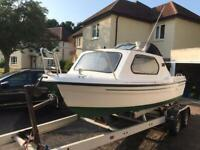 18ft fishing boat 55hp ready for the water