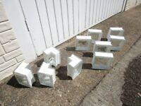 misty glass building blocks. good. ( 31 of them )