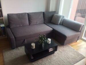 IKEA Sofa Bed with Storage Space: Grey Friheten Sectional