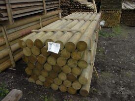 Timber Machined Round Tanalised 150mmx3.6m long