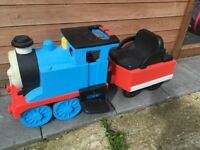 Ride on battery Thomas train with track