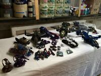 Huge Lot of Halo Megablocks Vehicles & Figures (with all weapons)