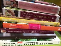 Brand new and unused cookbooks for sale. Would make great presents!
