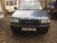 Vauxhall FRONTERA 4X4 2.2 DIESLE 4 DOOR LONG MOT SILVER 115000 MILES 5 door