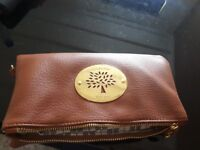 Ladies Mulberry Brown Clutch Bag Designer Purse
