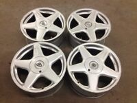 "AZEV A 8J 17"" 5X112 DEEP DISH ALLOY WHEELS, ORIGINAL MADE IN GERMANY not keskin, AEZ tm"