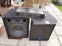 AC Euro disc DJ Amplifier and Speakers PA amp