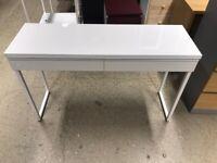 BESTÅ BURS Desk, high-gloss white120x40 cm IKEA CROYDON #bargaincorner