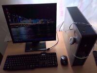 "Fast Hp Computer Core 2 Duo 3.Ghz, 2gb Ram, 160gb HD, 17"" Monitor, Microsoft Office, Wifi, Windows 7"