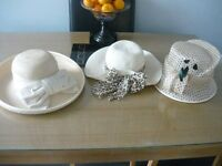 3 x laddiees summer hats exc condition