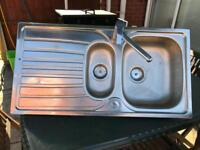 Stainless steel sink complete