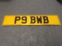 private plate - p9 bwb - up for sale
