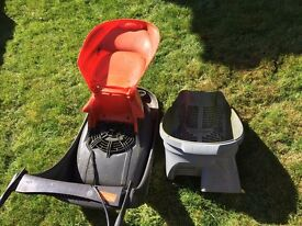 18 MONTH OLD ELECTRIC FLYMO POWEFUL LAWN MOWER,WITH COMPACT BIN FOR EASY EMPTYING