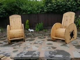 Garden reel chairs