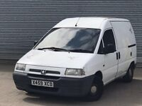 2000 PEUGEOT EXPERT VAN, 1.9 DIESEL ENGINE, TOW BAR, NEW MOT & NO VAT.