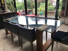 Dinning room Table modern large plus 8 chairs