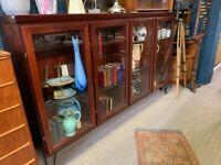 Rosewood Glass Display Unit - Retro Vintage Mid Century