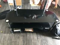 Black tv glass unit
