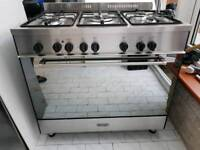 DeLonghi Dual Fuel Range Cooker with FSD 90CM Stainless Steel