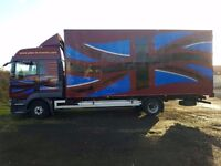 MAN 7.5 ton box truck/removals/tow hitch.