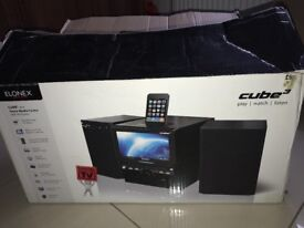 Cube 3 Stero With Speakers and remote