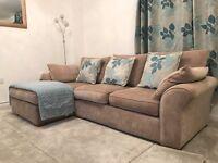 Next Garda Corner Chaise Sofa 4 Seater, Excellent Condition