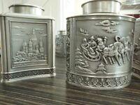 metal storage jars