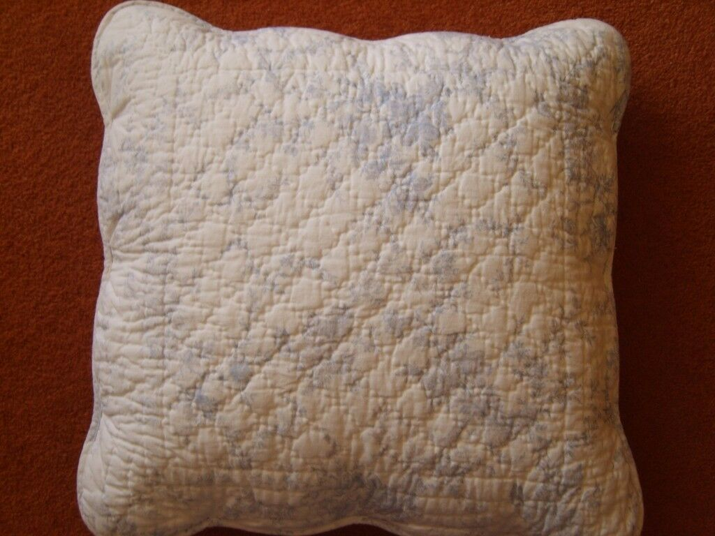 Vintage Style Past Times Blue Floral Cushion