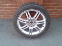 Mercedes 17 inch 7 Twin Spoke Alloy Wheel and Tyre, (1 Only)