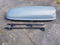 Halfords large roof box with roof bars