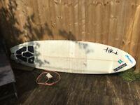 Tiki surfboard like fatboy flyer . Minimal short board shape perfect for south
