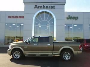 2015 Ram 1500 LONGHORN ECO DIESEL CREW 4X4 Local Trade, Dealersh
