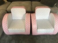 Children's pink sofa chairs