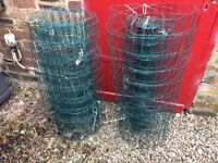 Wire Fencing, (pvc coated) plus 12 safety fencing stakes, height 1300m. Fencing 900mm x 10m