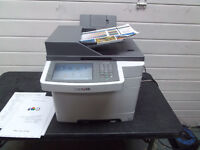 A4 colour photocopier printer scanner fax pc/mac, Lexmark SX548, laser type,