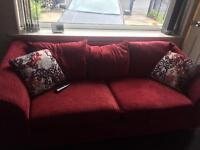 Red 3 +2 seater sofa s