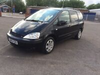 FORD Galaxy Ghia Tdi Auto, AUTOMATIC, Diesel, long MOT, full leather seats, drives perfect. black