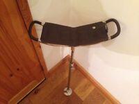 Leather shooting stick / walking stick / seat