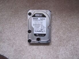 Hard Drive 500 GB - 3.5 Western Digital SATA - excellent condition - collect only