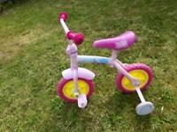 Peppa pig bike with stabilizers