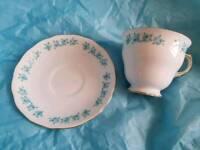 Vintage Gainsborough Bone China tea cup and saucer
