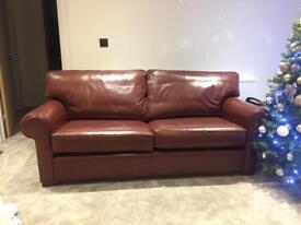 Multi York leather sofa set