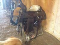 "16"" cow horse saddle"