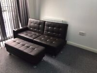 Brand New Ottoman Storage Sofa Bed - Brown