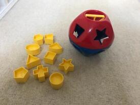 Tupperware Shape O Ball Shape Sorter Ball Vintage Toy Complete Set All Shapes