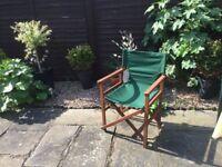 4 John Lewis Director Garden Chairs Green