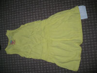 Yellow cotton Summer dress for girl 6-7 years/ 122. Very good condition.
